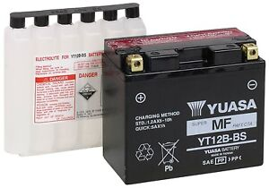 NEW Genuine Yuasa YT12B-BS Motorcycle Battery 12V 10Ah 215CCA AGM