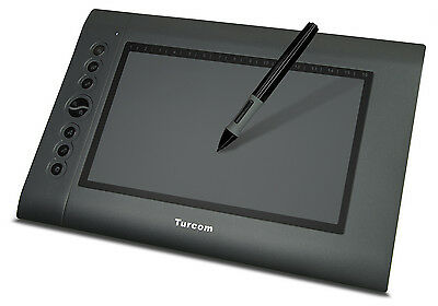 "Turcom TS-6610 Graphic Drawing Tablet and Pen/Stylus for PC/Mac.10x6.25"" surface"