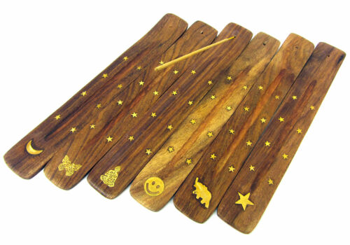 New Wooden Incense Cone Holder Burner Ash Catcher Polished Design Wood
