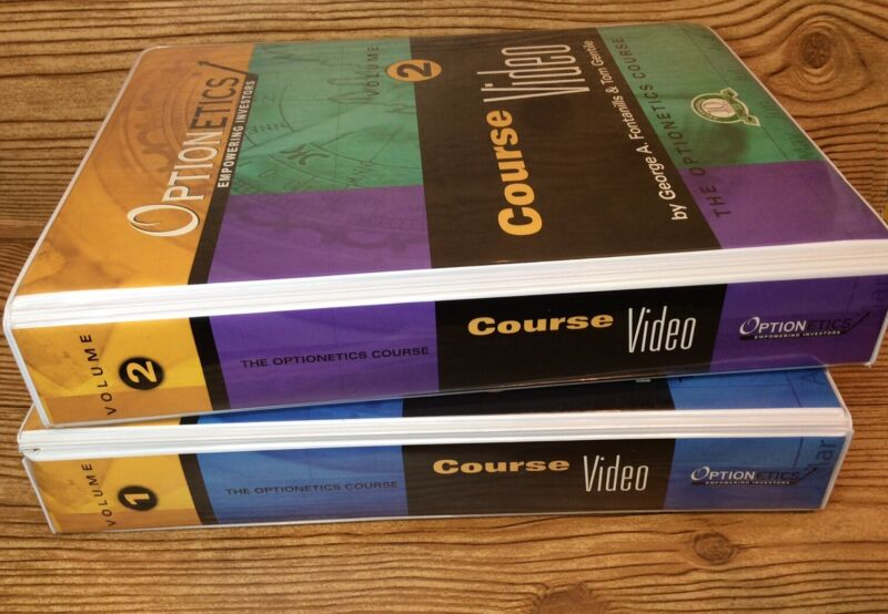 Optionetics Empowering Investors Course 1 & 2 VHS By George A. Fontanills & Tom