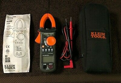 Klein Cl100 Ac Clamp Meter 600a Wsoft Sided Case