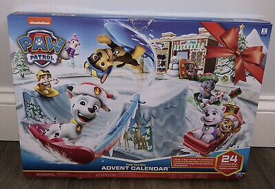 NICKELODEON PAW PATROL ADVENT CALENDAR 24 EXCLUSIVE GIFTS FIGURINES TOYS NEW