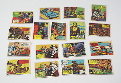 Lot of 17 1957 Topps Isolation Booth Vintage Trading Cards - VG-EX to EX-MT