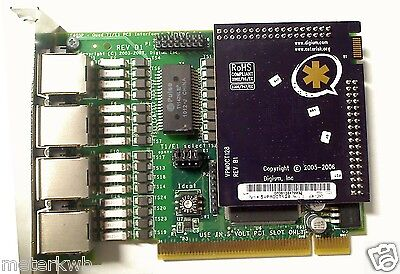 Digium Asterisk Te405p Quad T1e1 Card W Vpmoct128 Echo Cancellation Elastix