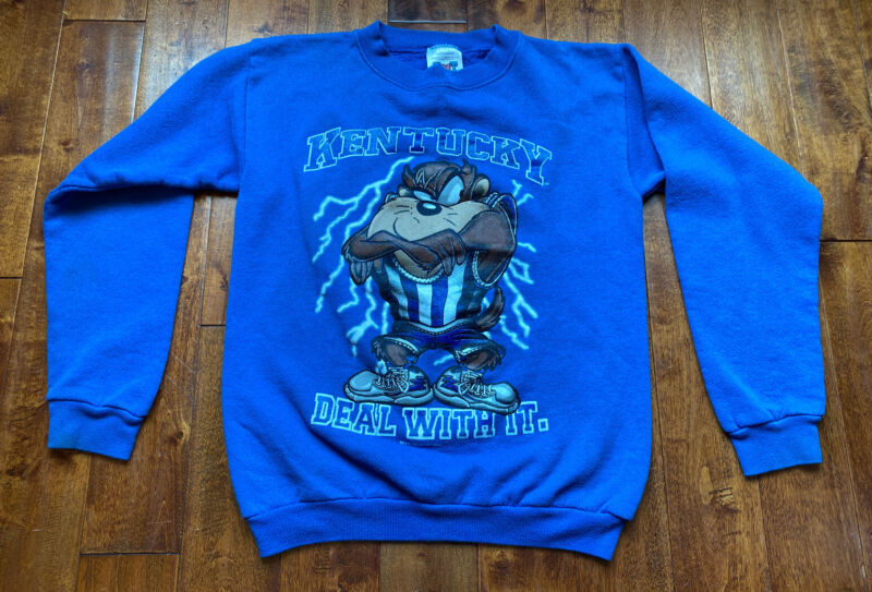 Vintage Warner Bros. Looney Tunes Taz Sweatshirt U Of K University Of Kentucky