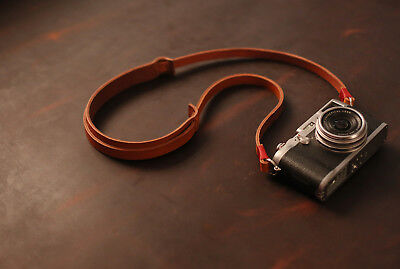 Best Camera Strap Handmade light brown leather shoulder pad from