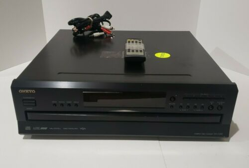 Onkyo DX-C390 6 compact disc changer with remote, audio cord - tested