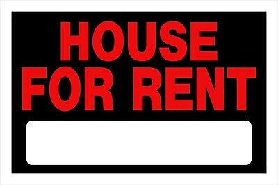 House For Rent Sign 8 X 12 Red Black W Blank Rental Rent Home Hillman 839934