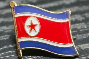 NORTH KOREA North Korean Metal Flag Lapel Pin Badge *NEW*