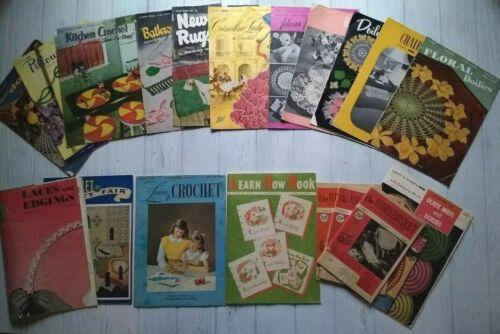 Vintage Crochet Pattern Books Star Coats & Clark Learn Doilies Pillowcases Lot