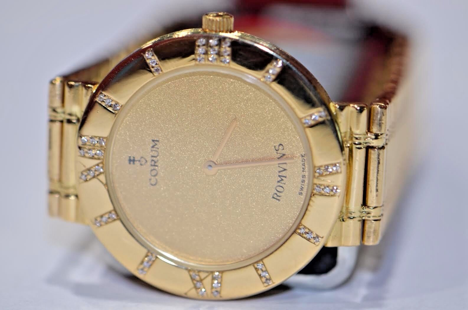Womens Corum Romvlus 18K Solid Gold Diamond - watch picture 1