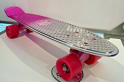 """AUSTRALIA PENNY 22"""" SKATEBOARD - METALLIC SILVER/PINK - NEW WITH TAGS!!!"""
