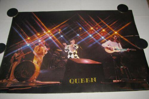 1978 QUEEN Poster Wizard & Genius 38x26.5 Vintage Freddie Mercury