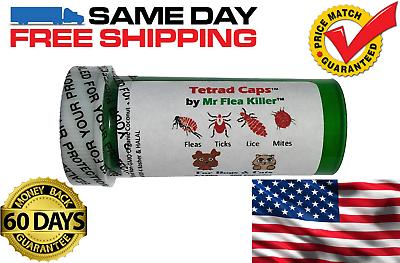 Купить Tetrad Caps - 50 Tetrad Cap Capsule Dog Cat 26-75lb Rapid Flea Tick Lice Mite Killer Control 3