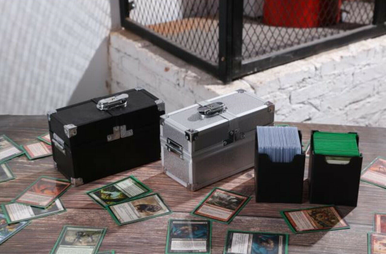 metal deck box mtg magic the gathering