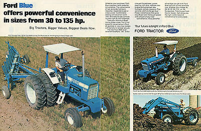 1973 Ford Blue 9600 5000 & 3000 Farm Tractor 2 Page Magazine Ad