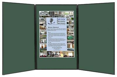 Folding 3 Panel 49 X 20 Green Tabletop Display For Use With Friction Hook Tape