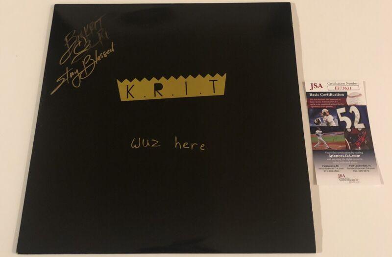 BIG K.R.I.T Signed Autographed KRIT Wuz Here Vinyl Record (2 LP) Rapper JSA COA