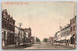 Sleepy Eye MN~Main Street Clock~Nelson & Riedl Clothing Store~Road Work~c1910 PC