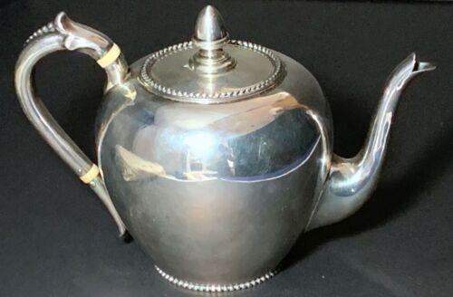 Dutch Silver Teapot - Antique 1876