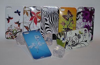 Iphone 5 Zebra (Hard Back Case für iPhone 4 + 5 Butterfly Flower Zebra Cover Schutz Hülle Etui)