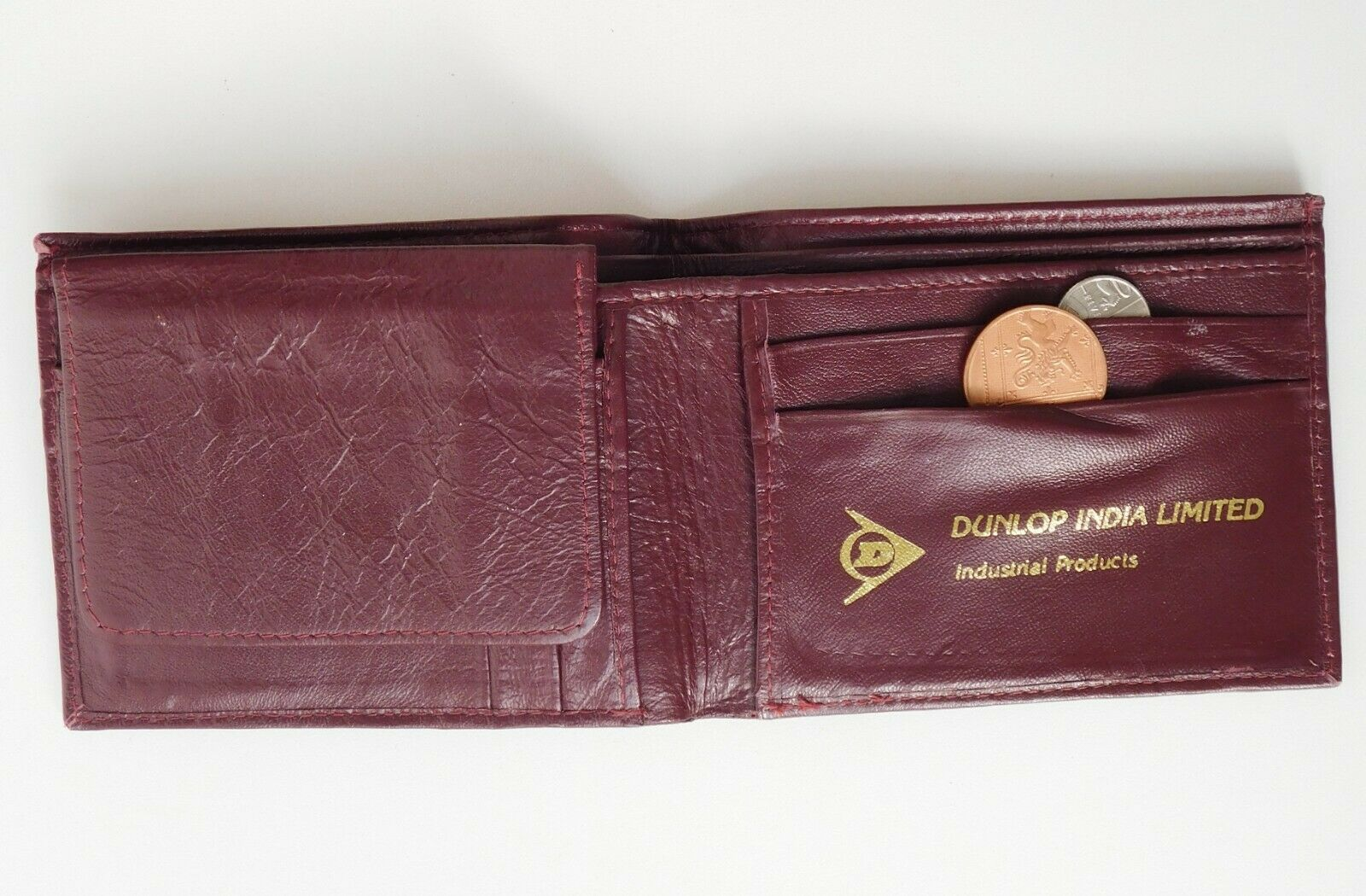 Dunlop India vintage leather wallet good quality burgundy colour men or women