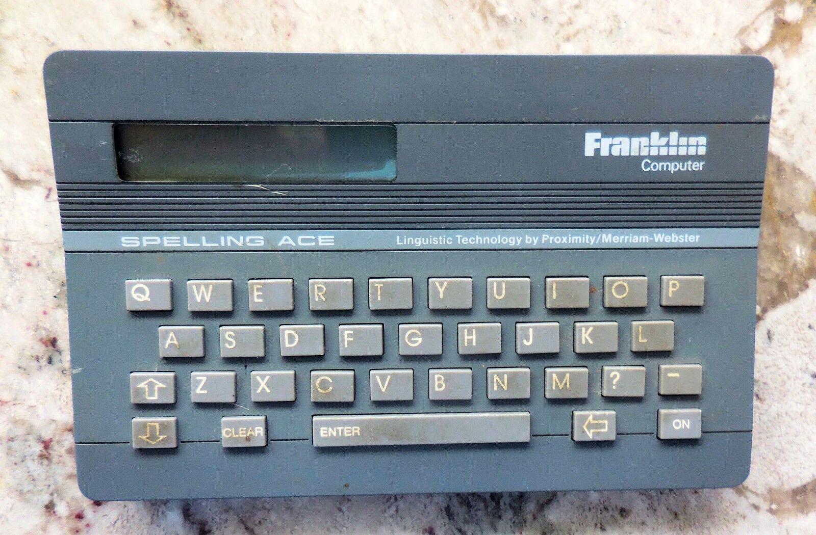 Franklin Computer - 1987 Spelling Ace (SA-98) [Merriam-Webster] (EUC)