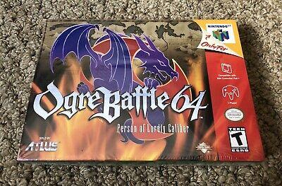 Ogre Battle 64 (Nintendo 64, N64) Brand New Factory Sealed Near Mint - EXCELLENT comprar usado  Enviando para Brazil