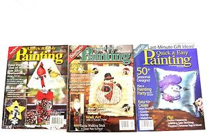 PaintWorks-Quick-Easy-Magazine-Winter-Theme-LOT-tole-decorative-painting