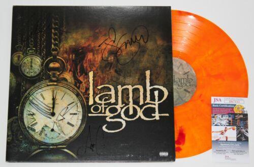 LAMB OF GOD BAND SIGNED SELF-TITLED LP COLOR VINYL RECORD ST AUTOGRAPH JSA COA