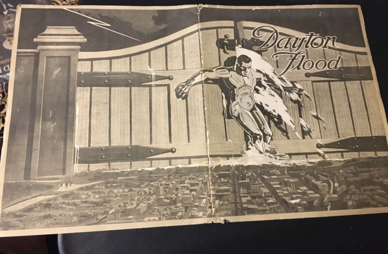 Scarce 1915 Panama Pacific Expo PPIE Dayton Ohio Flood Building Pictorial