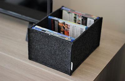 Stilvolle Aufbewahrungsbox aus Filz für Blu-ray und Playstation 4 Spiele