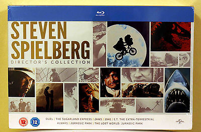 New Steven Spielberg Directors Collection 8 Movies Bluray Box Set E T  Jaws