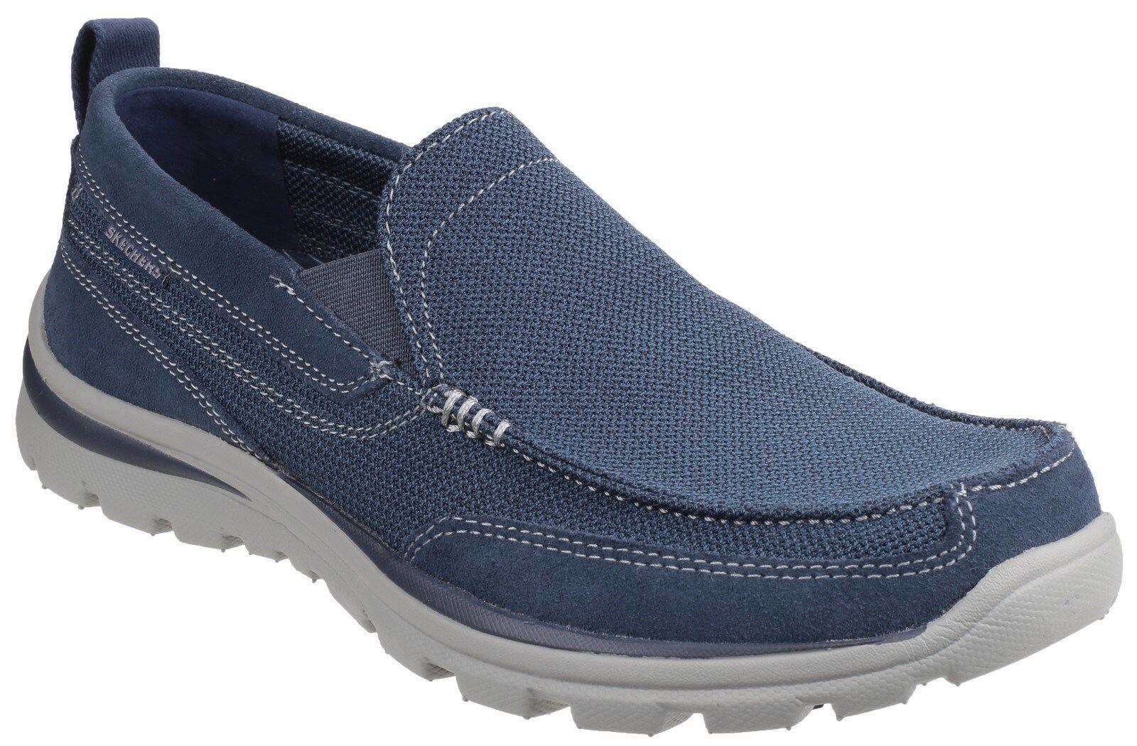 Artículos de primera necesidad Oponerse a lana  Skechers Relaxed Fit: Superior - Milford Shoes Mens Memory Foam Trainers  64365 | eBay