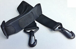 Replacement Shoulder Strap Padded Black Length 84cm - 142cm Width 38mm New