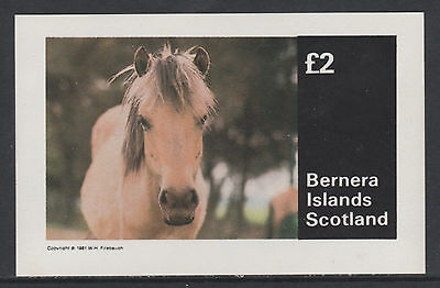 GB Locals - Bernera 3265 - 1981  HORSES  imperf deluxe sheet unmounted mint