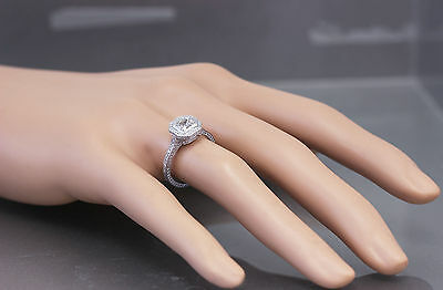 GIA H-VS2 14K White Gold Asscher Cut Diamond Engagement Ring Bezel 2.25ctw 1