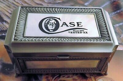 Case Knife Display Box AAA+ Pewter & Pearl Highly Detailed BEAUTIFUL!! Mint NR