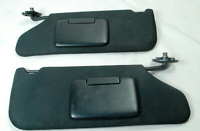 08-14 Dodge Avenger 11-14 Chysler 200 Sun Visor Set Pair Mirrors Adjust Bars