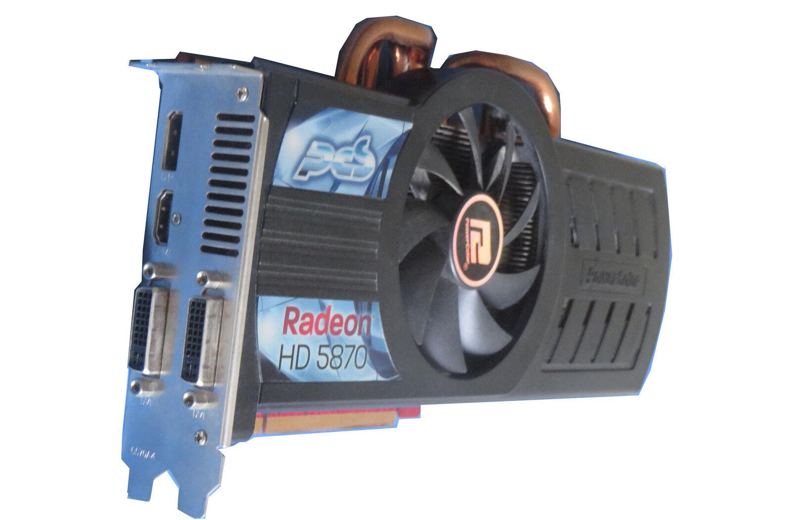 PCS PowerColor Grafikkarte Radeon HD 5870 1GB PCIe für PC/Mac Pro 1.1/5.1 #90