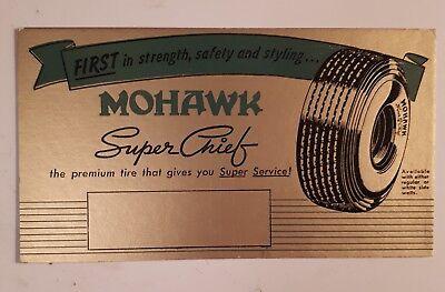 "RARE AMERICAN ""MOHAWK SUPER CHIEF"" ADVERTISING INK BLOTTER- MINT CONDITION for sale  Tillsonburg"