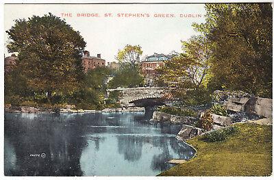 DUBLIN - The Bridge - St Stephens Green - Ireland - 1920s era postcard