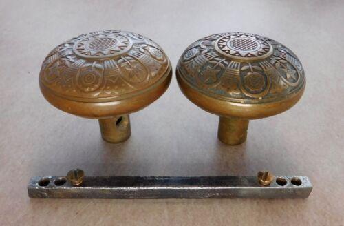 Original Antique Nashua doorknobs bronze brass 1886 Eastlake Victorian #K-21000