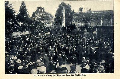 Kürbisfest in Nizza Arena in Cimiez Ausschnitt von 1909