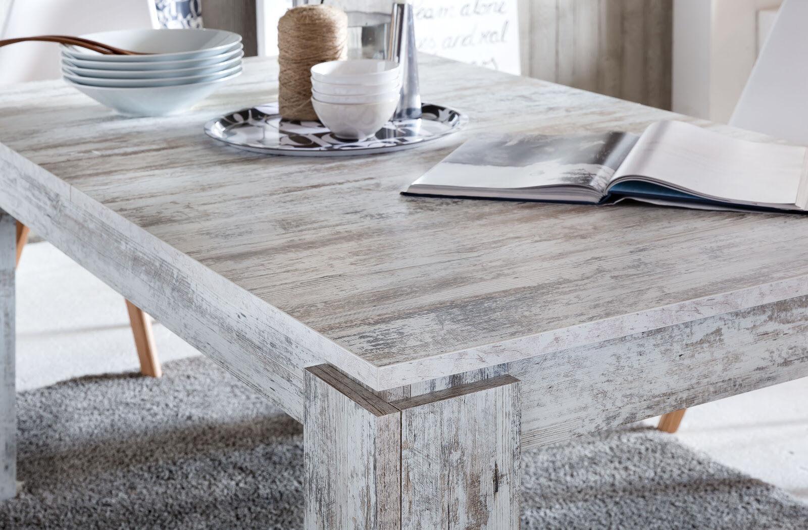 esstisch esszimmer tisch wei pinie shabby holztisch. Black Bedroom Furniture Sets. Home Design Ideas