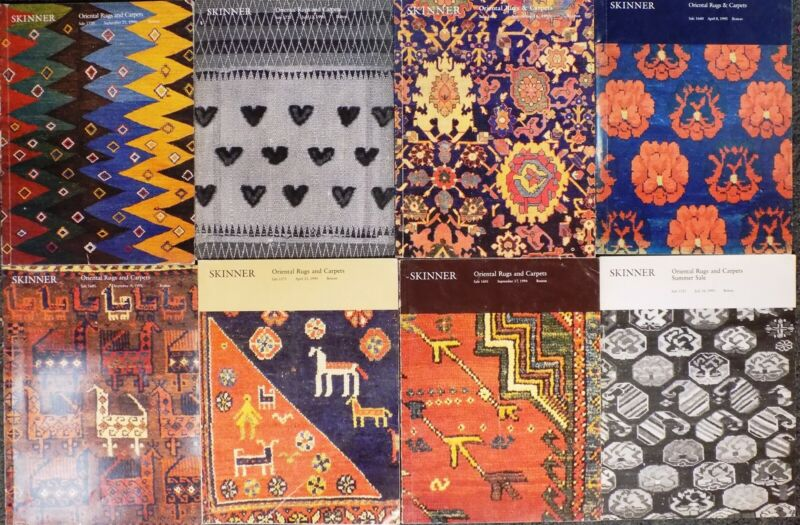 Lot of 8 Skinner Oriental Rugs & Carpets Auction Catalogs! Paperback