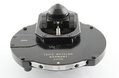 Leitz Microscope Phase Contrast 402a 0.90 As Dark Field Condenser