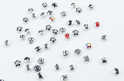50pcs 4mm Grafitti Pearls