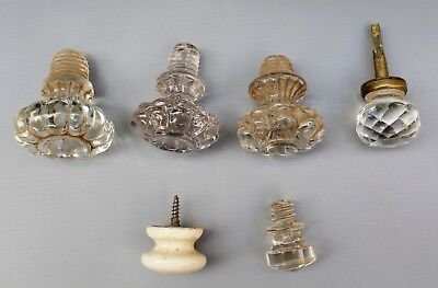 Victorian Glass Furniture Knobs   Chest / Cabinet / Drawers