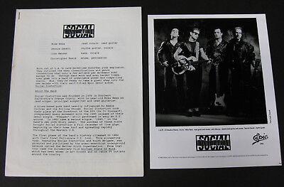 SOCIAL DISTORTION s/t 1990 Promo PRESS KIT Mike Ness PUNK Epic Records OC